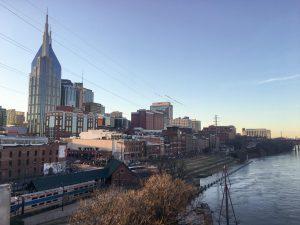Nashville Riverfront Skyline